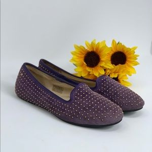 UGG Purple Studded Suede Flats